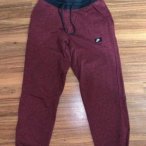 Nike Red/Black Sweatpants Tapered